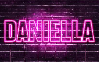 Daniella 4k Names Wallpapers Neon Purple Text