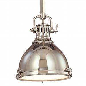 Nautical pendant light in polished nickel finish pn