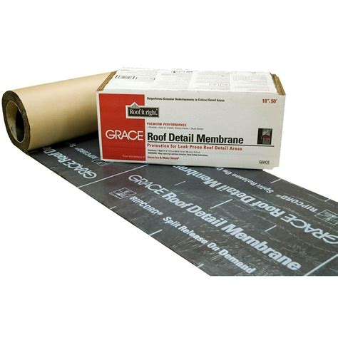 Tile Underlayment Membrane Home Depot by Grace 18 In X 50 Ft Asphalt Roll Roofing Detail Membrane