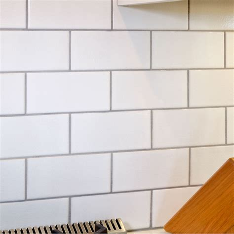 white subway tile with grey grout crackled white 3 x 6 x 3125 subway tile with delorean