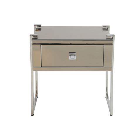 mirrored buffet tables copper mirrored bedside table 54cm x 40cm x 56cm 4158