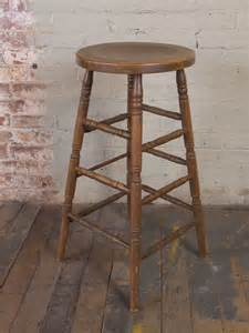 Wooden Bar Stools by Vintage Industrial Wooden Bar Stool Get Back Inc