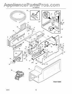 Parts For Frigidaire Fghb2844lf3  Ice Maker Parts
