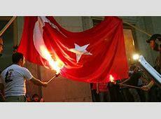 Armenian antipeace radicals burn Turkish flag Daily Sabah