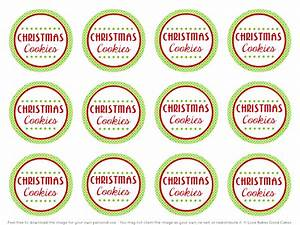 7 best images of christmas cookie labels free printables With cookies label template