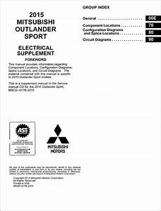 2015 Mitsubishi Outlander Sport Wiring Diagram Manual Original