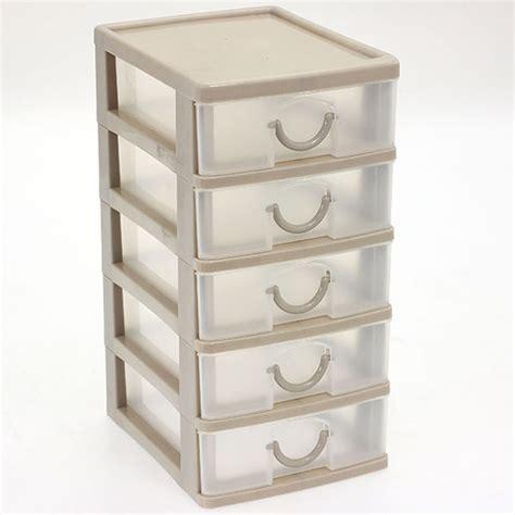 tour en plastique de rangement pas cher bloc coffret tour boite de rangement 5 tiroirs plastique petit mod 232 le ebay