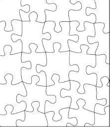 Jigsaw Puzzle Template For Word by Puzzle Template