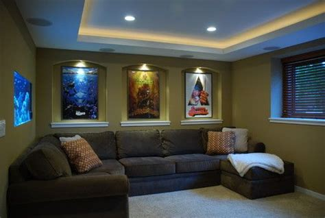 Home Theater Decor Ideas by Small Home Theater Contemporary Media Room