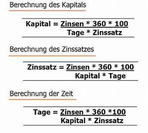 Darlehen Berechnen Formel : zinssrechnung aufgaben und test ben siebern ~ Themetempest.com Abrechnung