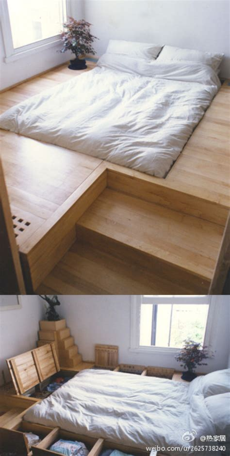 around bed storage furniture raised platform around bed with built in storage woodworking stack exchange