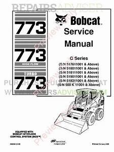 Bobcat 773  773 Hf  773 Turbo G