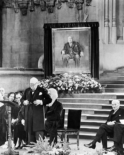 Churchill Winston Sutherland Portrait Graham Crown Painting