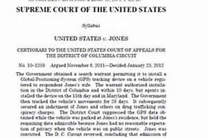 Opinion: United States v. Jones - WSJ