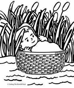 Baby Moses Coloring Pages - Coloring Home