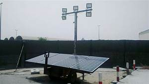 Solar led lighting for construction sites