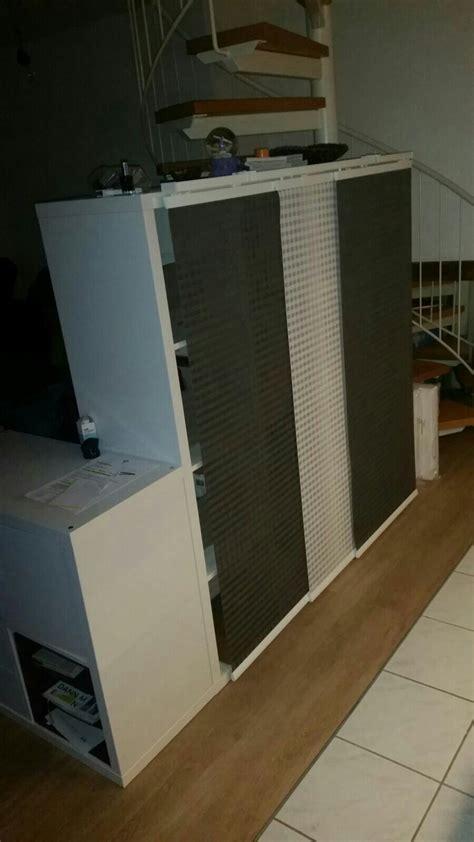 Ikea Schrank Kallax by Ikea Kallax Hack Raumteiler Mit Schiebegardine Einfach Die