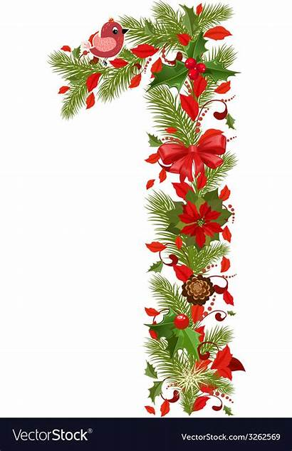 Christmas Number Tree Vector Floral Royalty