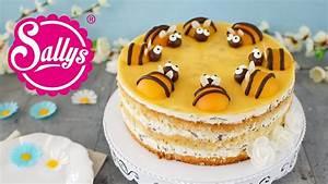 Sommerliche Bienentorte / Buttermilch Stracciatella Torte mit Pfirsich YouTube