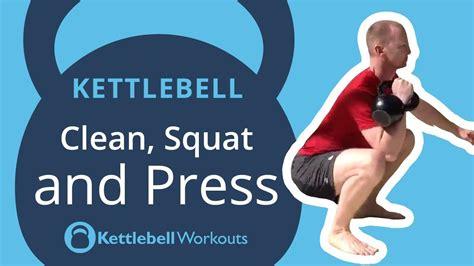 kettlebell squat press clean