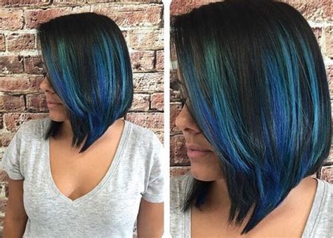 blue hair color ideas pastel blue balayage ombre