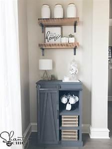 DIY Barn Door Coffee Cabinet - Shanty 2 Chic