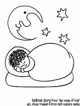 Coloring Sleep Pages Bedtime Sleeping Ocean Cartoon Story Print Popular Adults sketch template