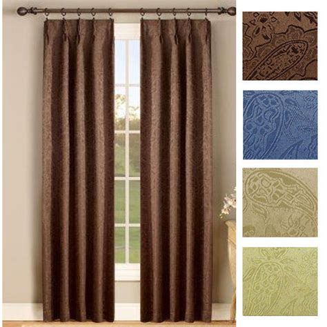 Pleated Thermal Drapes - gabrielle thermal insulated foam back pinch pleat pair