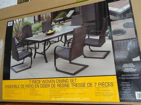 agio international 7 fairview woven dining set