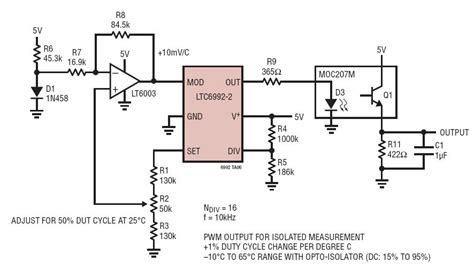 Simple Diode Temperature Sensor With Frequency Output