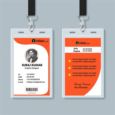 creative identity card design template psd indiater