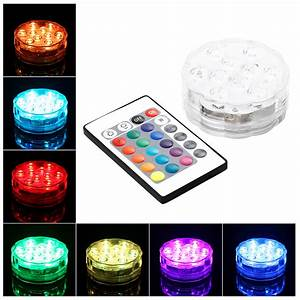 Led Licht Batterie : led tauchlampe mehrfarbig wasserdicht lichter mit batterie und fernbedienung ebay ~ Watch28wear.com Haus und Dekorationen