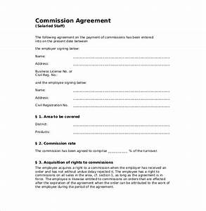 image gallery commission agreement With sales commission contract template free