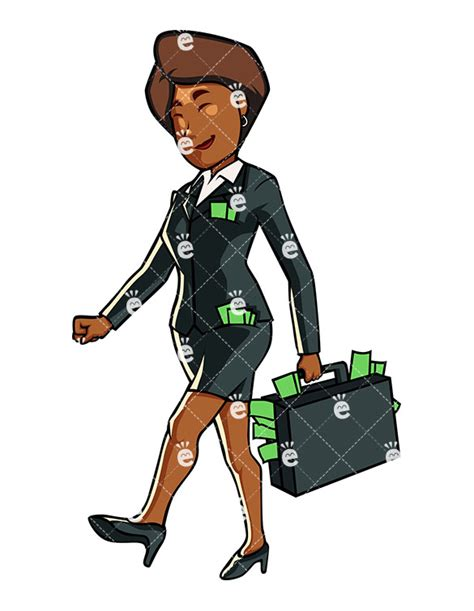 A Black Businesswoman Carrying Loads Of Cash ...