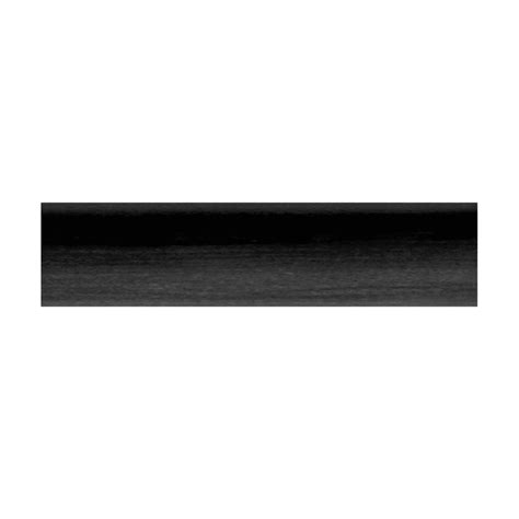 shop allen roth 72 in black wood curtain rod at lowes com