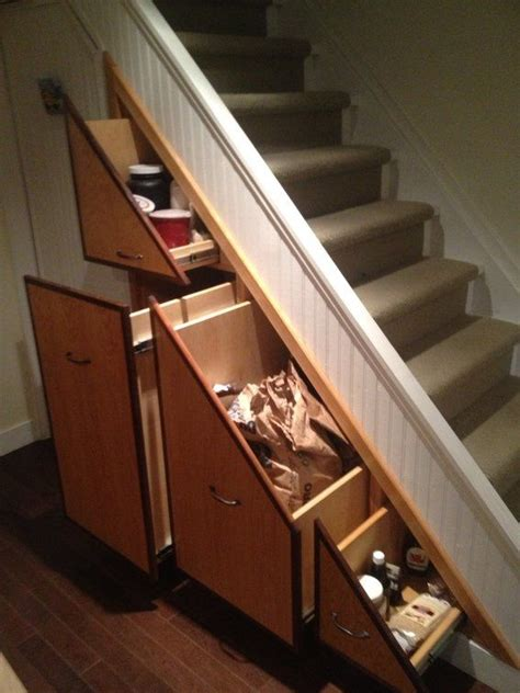 """If you like shelves under stairs, you might love these ideas. Custom Made Under Stair Pantry 