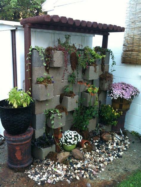 cinder block garden vertical garden from cinder blocks diy projects for