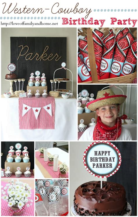 cowboy birthday ideas turns 7 of family home