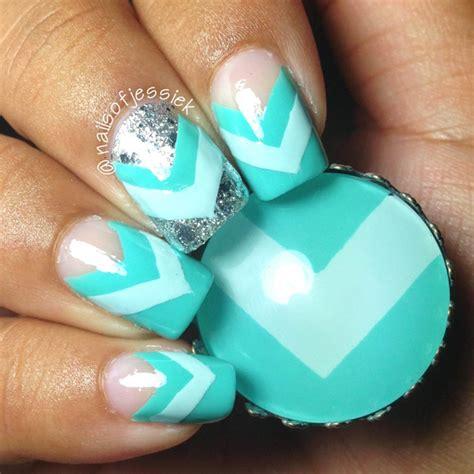teal nail designs nail how to teal chevron nails nail it
