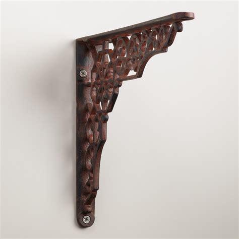 iron shelf brackets geometric iron shelf bracket world market