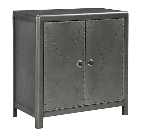 rock cabinet rock ridge 2 door accent cabinet signature design