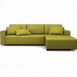 canape d39angle en tissu cara couleur vert matie achat With canape angle vert