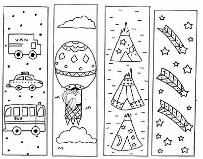 Bookmarks Coloring Bookmark Printable Pages Reading Template