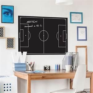 Deco Chambre Foot : sticker ardoise terrain de football d coration chambre ~ Dode.kayakingforconservation.com Idées de Décoration