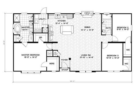 oakwood homes floor plans sc floorplan 2455 60x32 ck3 2 oakwood mod 58cla32603bm
