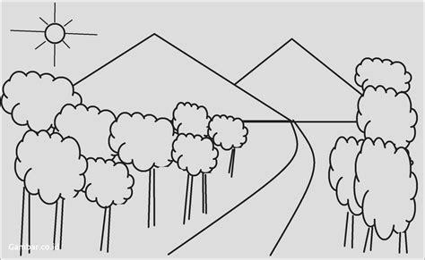 contoh gambar mewarnai pemandangan drawings art