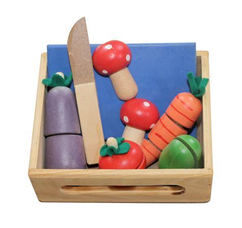 sayur potong mainan kayu