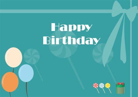 happy birthday blank greeting card template  vector