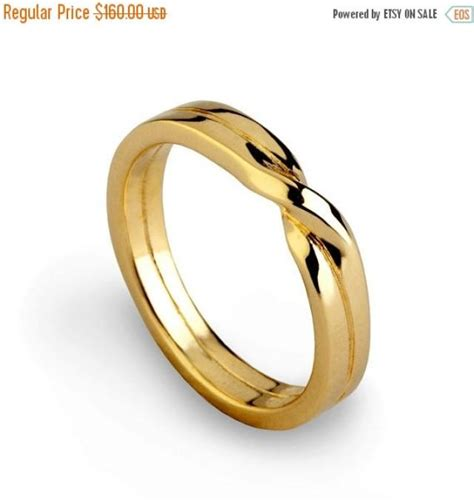 holidays sale love knot ring gold wedding band unique