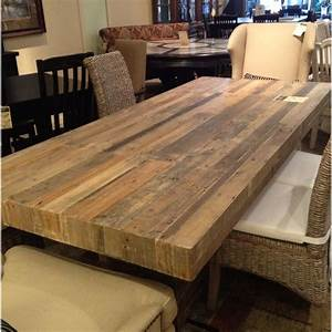 reclaimed wood dining table for the home pinterest With dining room tables made out of reclaimed wood